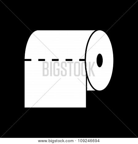 The toilet paper icon. Towel and  closet, restroom, bathroom symbol. Flat