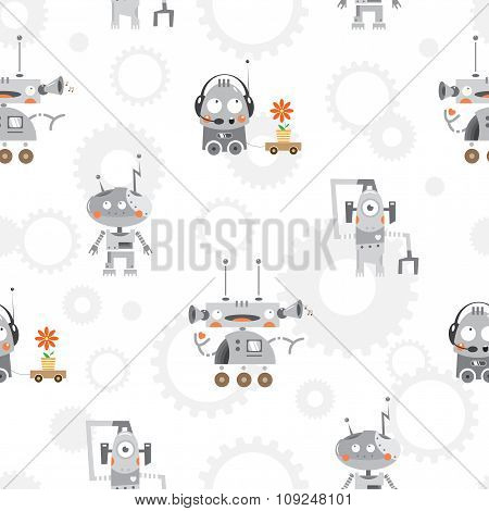 Pattern With Robots.