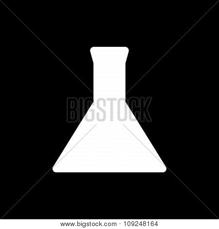 The test-tube icon. Flask and chemical, analysis, chemistry, laboratory symbol. Flat