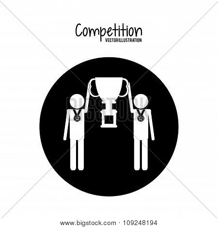 Competition design , Vector illustration