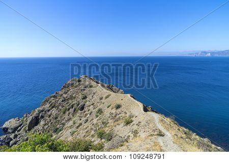 A small cape on the Black Sea shore. Crimea.