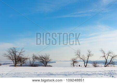 Kama River In Winter
