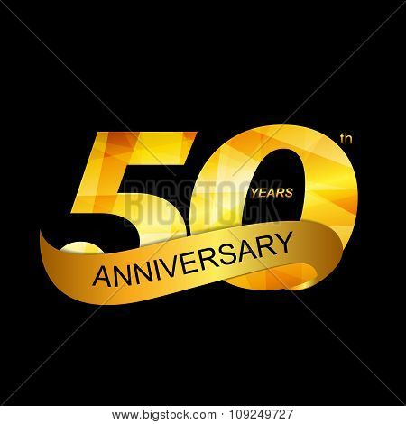 Template Logo 50th Anniversary Vector Illustration