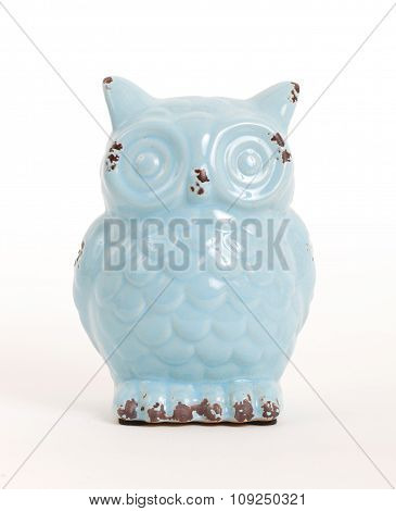 Blue Owl Gift, Isolated