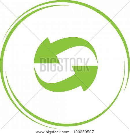 recycle symbol. Internet button. Vector icon.