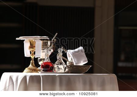 Catholic mass celebration symbols