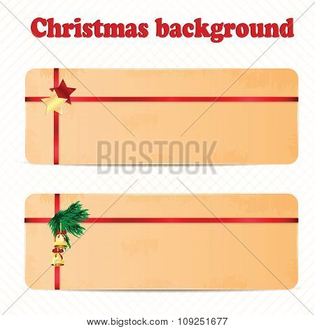 A Set Of Christmas And New Year Background With Christmas Decorations