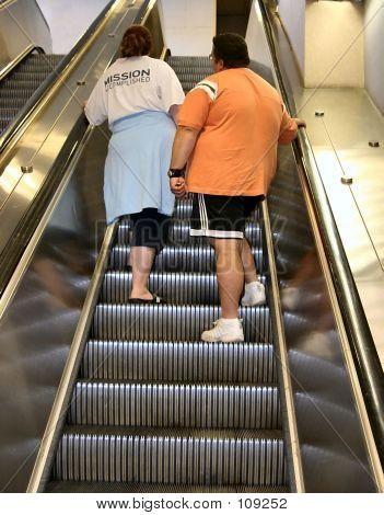 Couple On The Escalator