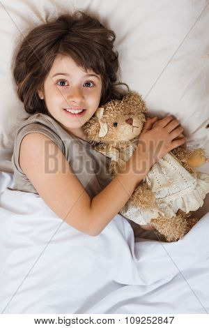 Ready for sleeping with my teddy bear