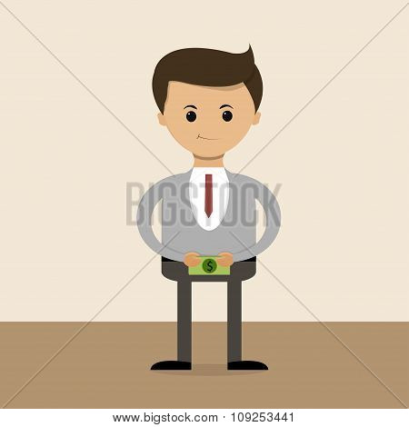 Business Concept In Flat Design. Salary. Vector