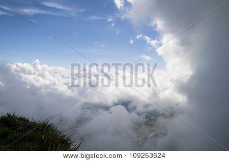 Beautiful Sky After Rain Cloud Passed