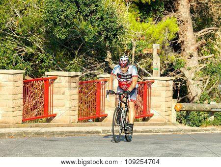 Tossa de Mar. Athlete bicyclist.