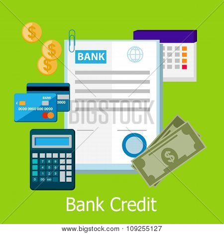 Bank Credit Concept Design Style