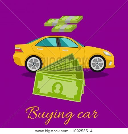 Buying Car Concept