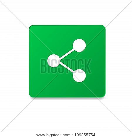 Rounded Square Icon With Shadow