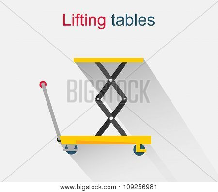 Lifting Tables Icon Design Style