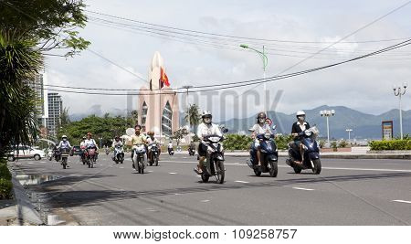 NHA TRANG, VIETNAM - NOVEMBER 21, 2015: View over Nha Trang city.