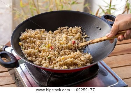 People Cooking Fried Rice