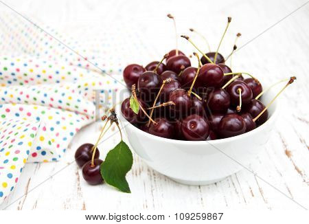 Bowl With Cherries