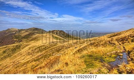 Autumn Landscape In Volcanic Mountains