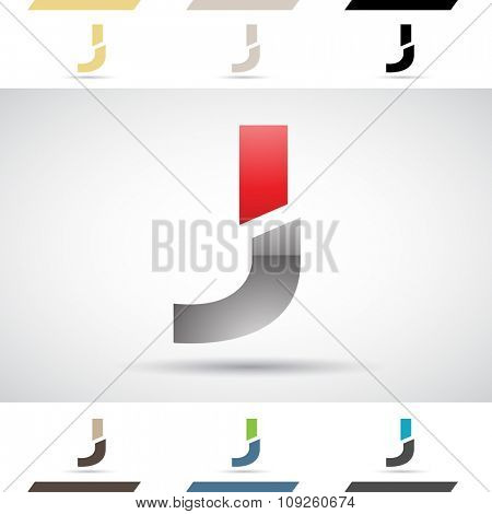Design Concept of Colorful Stock Icons and Shapes of Letter J, Vector Illustration