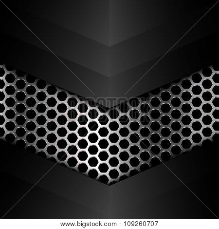 Polished Metal Texture, Vector. Web Design Element, Geometric Illustration