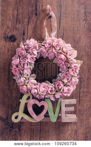 Love wooden words for decoration