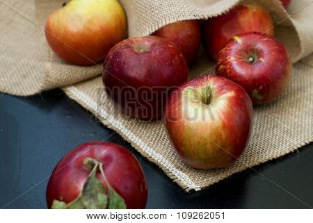 Red fresh apples