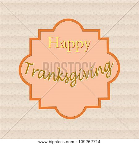 Poster - Happy Thanksgiving, In The Frame Using The Texture Of Cardboard, Drawn By Hand
