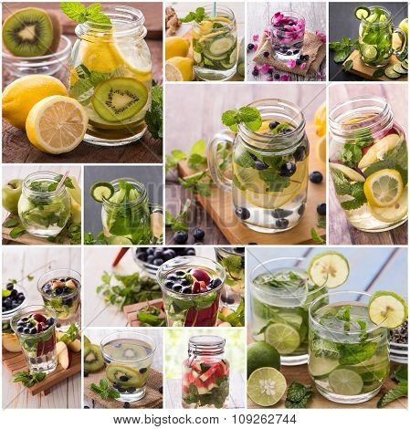 Infused Waters From Various Tropical Fruit