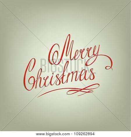 MERRY CHRISTMAS lettering, handmade calligraphy,