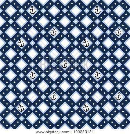 Geometric Seamless Pattern With Anchors