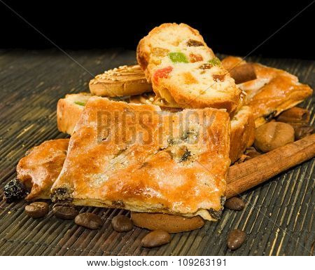 Image Of Tasty Cookie On A Table Closeup