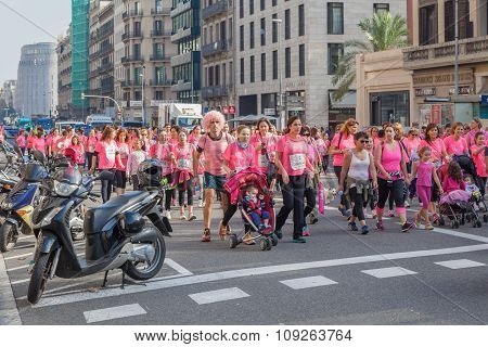 Women race against breast cancer