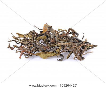 Dry Tea On A White Background