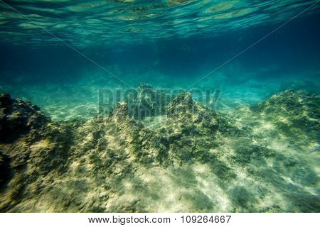 background sand on the beach underwater