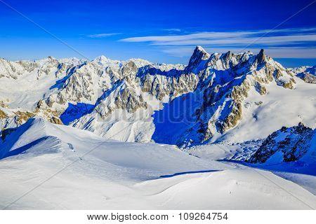 Grand Jorasses, Aiguille du Midi, French Alps