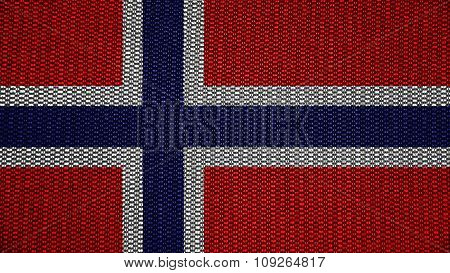 Flag of Norway, Norwegian flag painted on stitch material