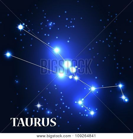 Symbol. Taurus Zodiac Sign. Vector Illustration.