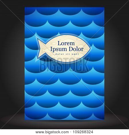 Sea Brochure Cover Template Design