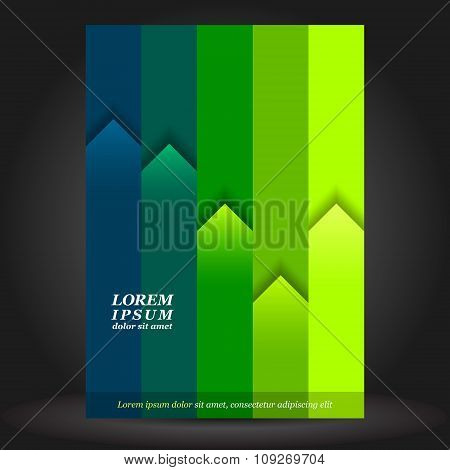 Green Brochure Cover Template Design