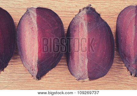 Slices Of Boiled Beet Close Up