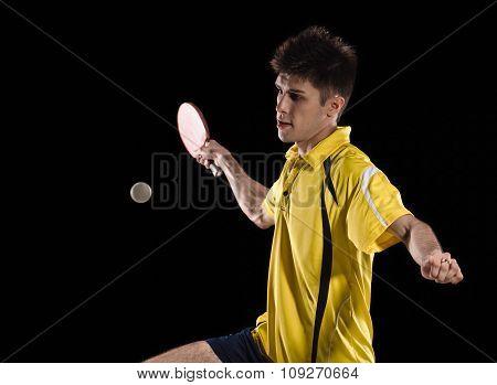 tennis player man. ping pong