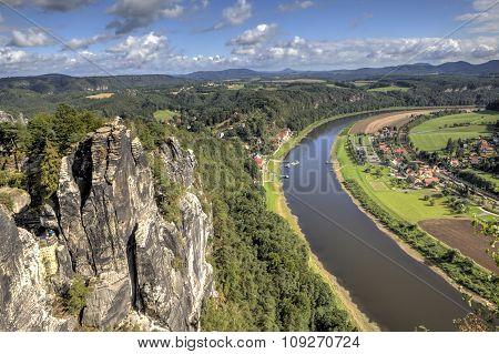 Natural Park Bastei. Saxony. Germany.
