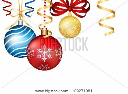 Vintage vector Christmas 3d decoration toys