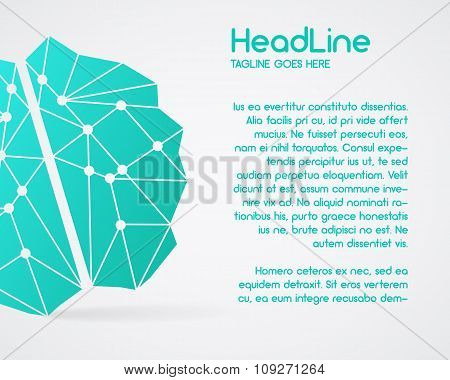 Brainstorm, brain, creation and idea poster template