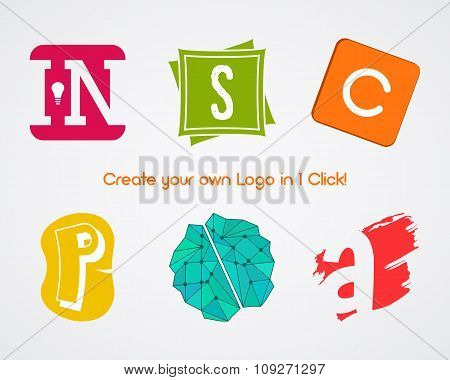 Set of Vector abstract creative logo design elements