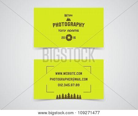 Modern light Business card template