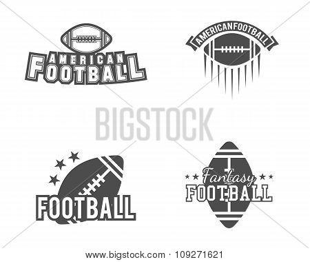 American football team, college badges