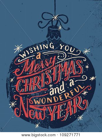 Wishing You A Merry Christmas Hand Lettering